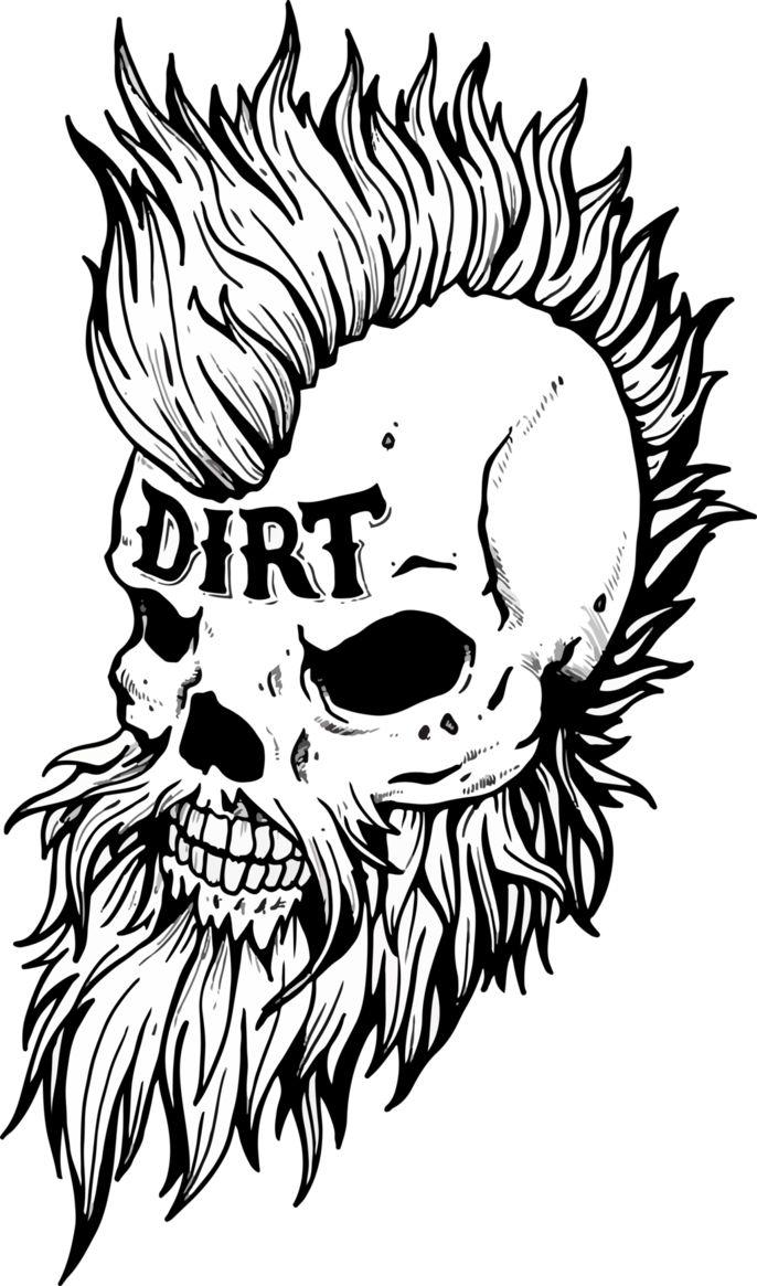 dirt headandreiwoodleg on deviantart  skull coloring