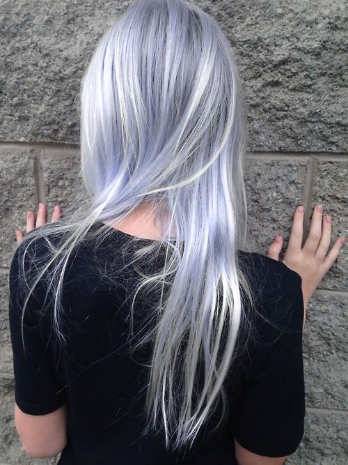 PASTEL ILLUSIONS  Pastel blue hair, silver highlights