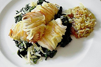 Tilapia im Kartoffelmantel auf Blattspinat (Rezept mit Bild) | Chefkoch.de