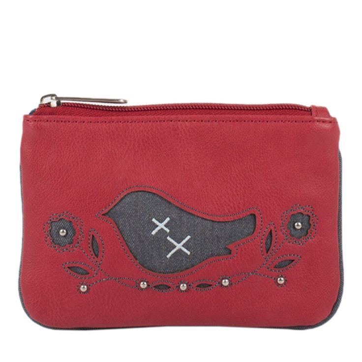 Messenger coin purse - Scarlet
