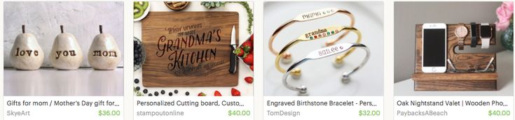 If you haven't visited Etsy yet, you're in for a treat. It's an online marketplace overflowing with one-of-a-kind, handmade gifts that you won't find at the mall. From personalized cutting boards, to engraved jewelry, they have it all.