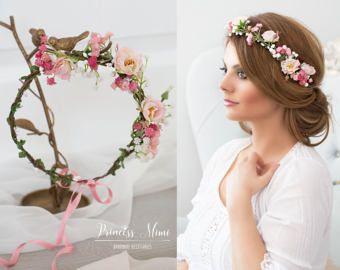 Braut Blumenkranz Haarkranz Hochzeit Haarband Blum…