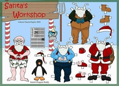 Santa Claus paperdoll #christmas