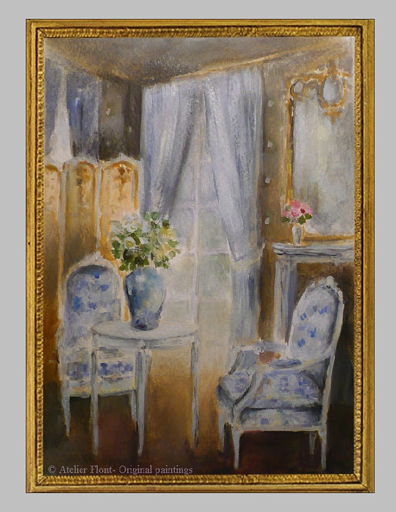 Interior - the blue gustavian drawing room Original by HelenFlont