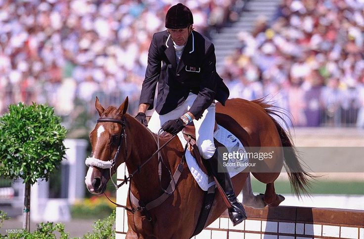 Sir Mark Todd of New Zealand and Eye Spy II on their way to winning individual bronze in evening at the 2000 Sydney Olympic Games.