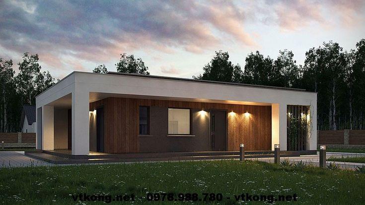 Nhà cấp 4 mái bằng, mẫu nhà đẹp cấp 4 NETNC4113