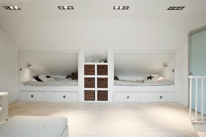 Recessed beds!