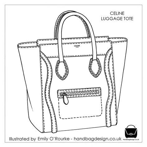 Celine Luggage Tote Designer Handbag Illustration