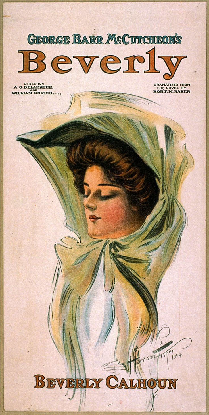 Classic Theatrical Poster BEVERLY, 1904 by Harrison Fisher classic, drama, high resolution, performing arts, stage, theatrical, vintage #TheatricalPosters