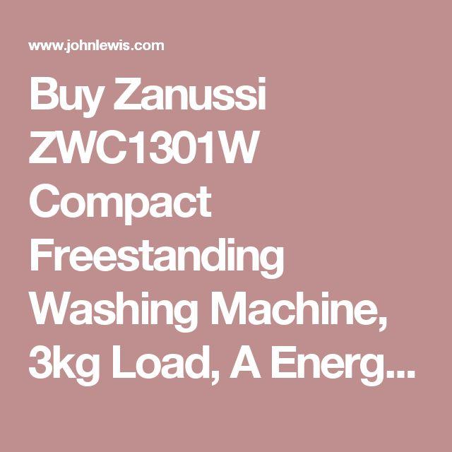 Buy Zanussi ZWC1301W Compact Freestanding Washing Machine, 3kg Load, A Energy Rating, 1300rpm Spin, White | John Lewis