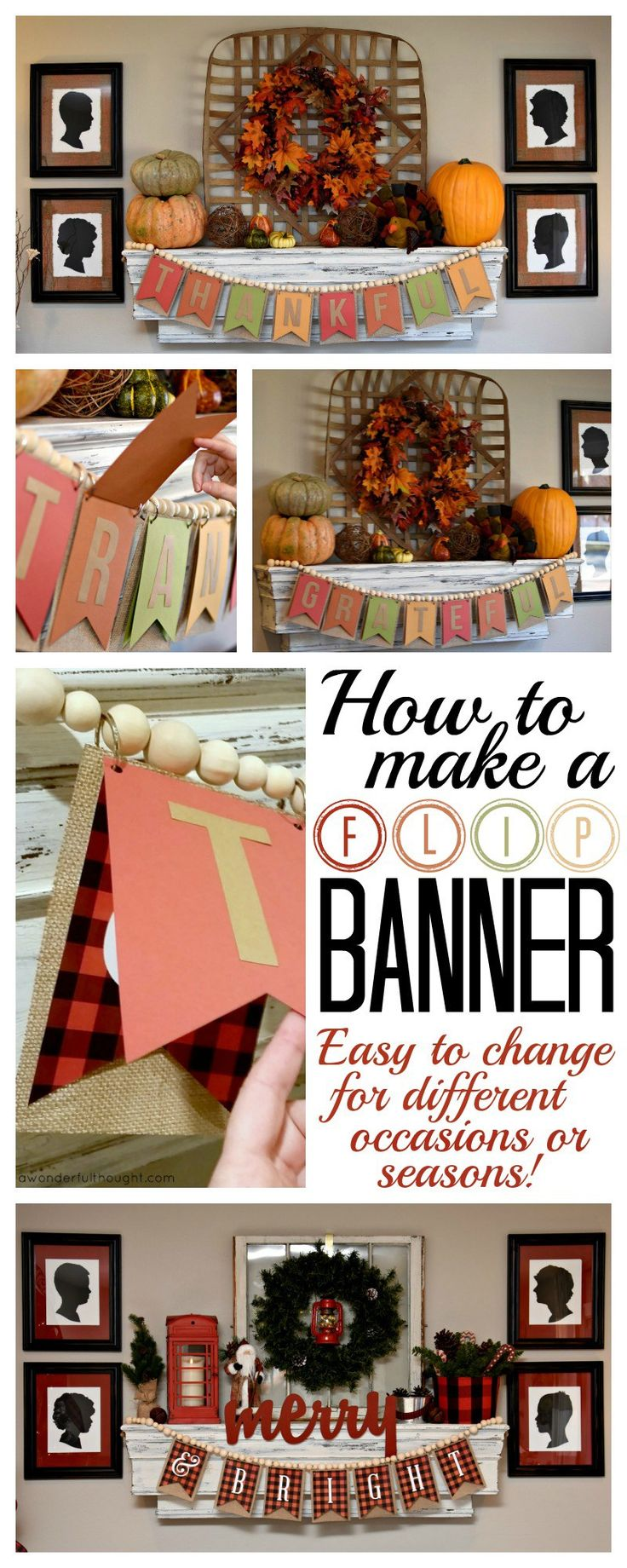 A Wonderful Thought | How to Make a Flip Banner | awonderfulthought.com