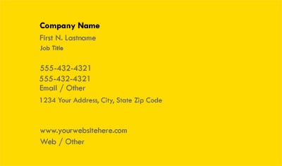 Check out the Solid Yellow Business Card Template with OvernightPrints.com