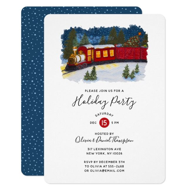 Discover our exclusive collection of beautiful invitation templates that you can customise with your event details for free! Create Your Own Invitation Zazzle Com Train Party Invitations Christmas Magic Invitations