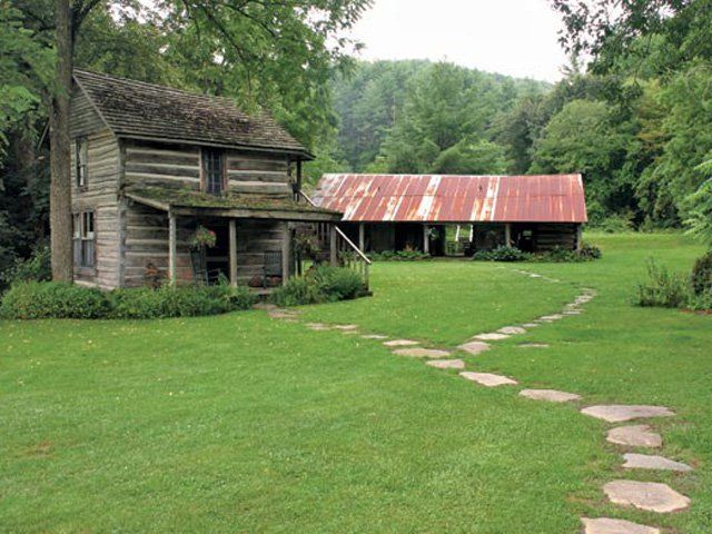 The 1810 Loom House, one of seven cottages on the Mast Farm Inn property in Valle Crucis, is billed as the oldest inhabitable log cabin in North Carolina.