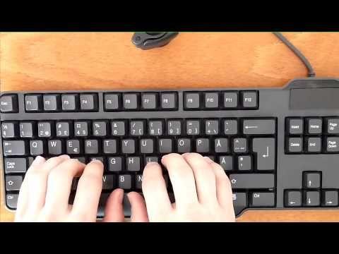 Kymmensormijärjestelmän opettelu, viikko 1: perusrivi asdfjklö - YouTube