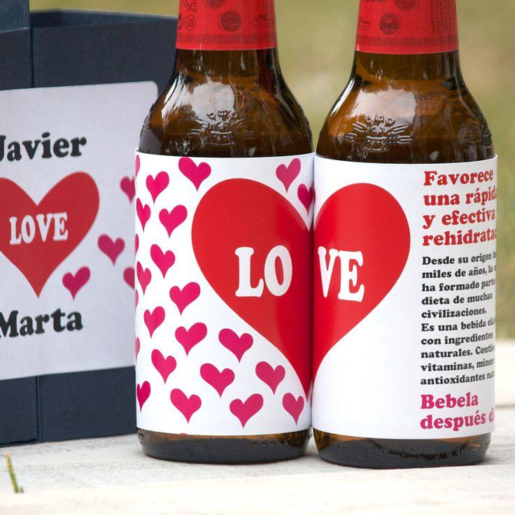 Kit Cerveza Fresquita Para San Valentín! Love love