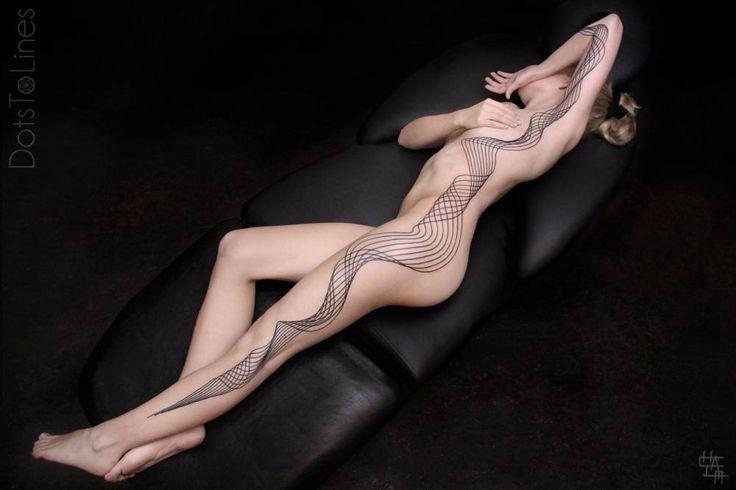 Custom geometric piece by Chaim Machlev. Tattoo Artist: Chaim Machlev · DotsToLines