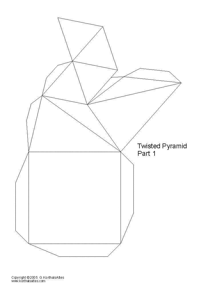 Net twisted pyramid