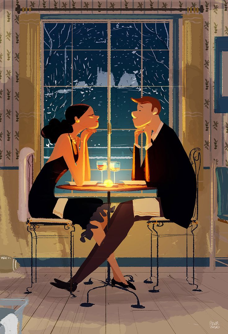 You and me and the rest by PascalCampion.deviantart.com on @DeviantArt  _Haaaaa.. doesn't that feel good? _You mean dress up and pretend we're out on a date? _Yup  _It does... it probably would feel better if I knew what the kids are doing. _It's pretty loud  _It is. _As long as no one is crying we're fine.  _Crying. Now. _Should I go? _In a minute.. let's enjoy this a minute more. _...... _ Ok. go now.