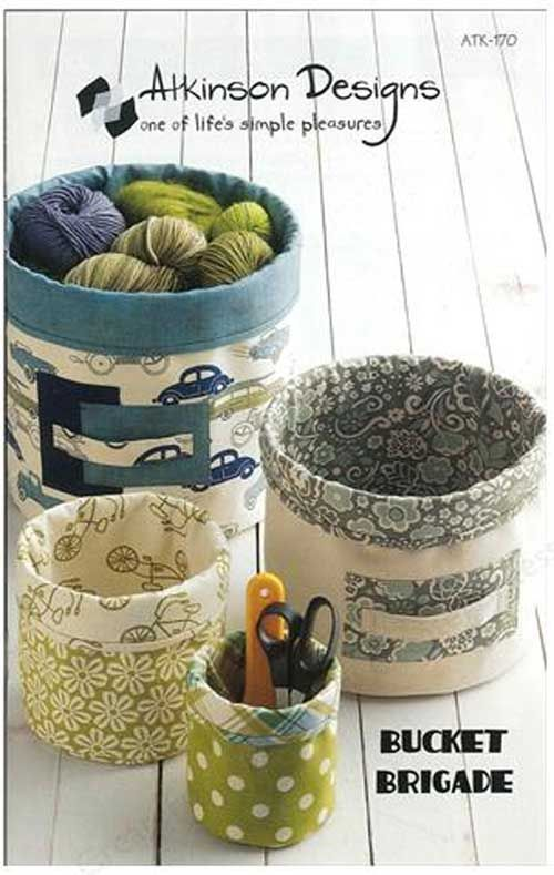 Make your own small bucket-like storage containers out of fabric. Now your storage can compliment your home's decor because you can choose fabrics in just