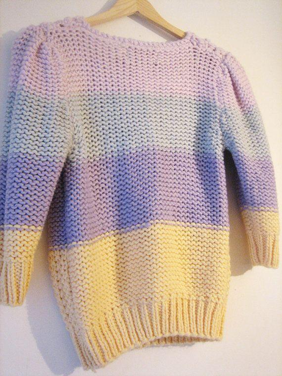 VTG Icecream Pastel Multicolor Sweater XS от sussudionyc на Etsy