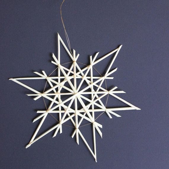 Straw Star Ornament Straw Christmas Ornament  by ZiezoDesigns, $7.50