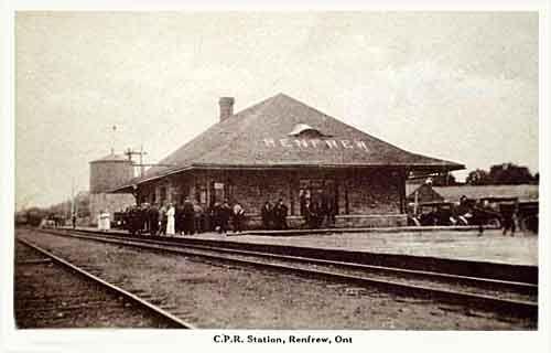 Railway station,  Renfrew,  Ontario