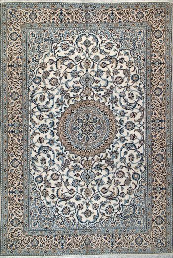 "Nain Persian Rug, Buy Handmade Nain Persian Rug 6' 7"" x 9' 10"", Authentic Persian Rug"