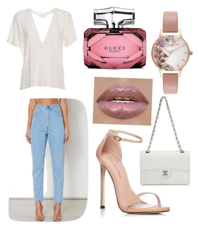 """""""Untitled #15"""" by alice12 on Polyvore featuring IRO, Stuart Weitzman, Chanel, Olivia Burton and Gucci"""