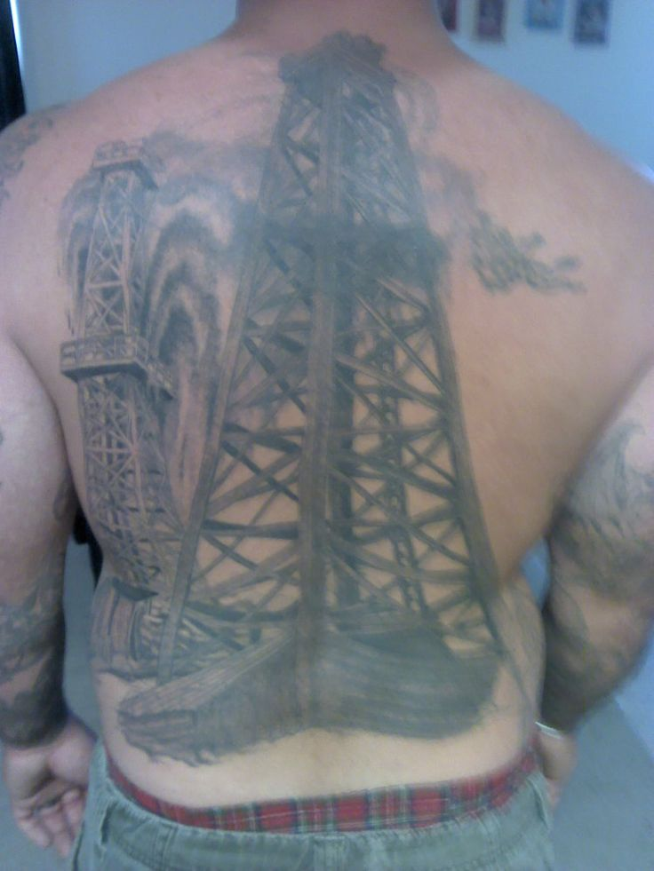 oilfield tattoos drilling ahead geo drill pinterest group and tattoos and body art. Black Bedroom Furniture Sets. Home Design Ideas
