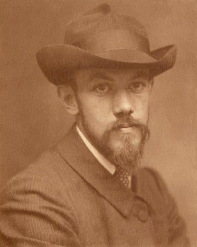 Adriaan Boer | Studio opname, portret van man met hoed, baard en snor. Nederland, begin 19e eeuw.