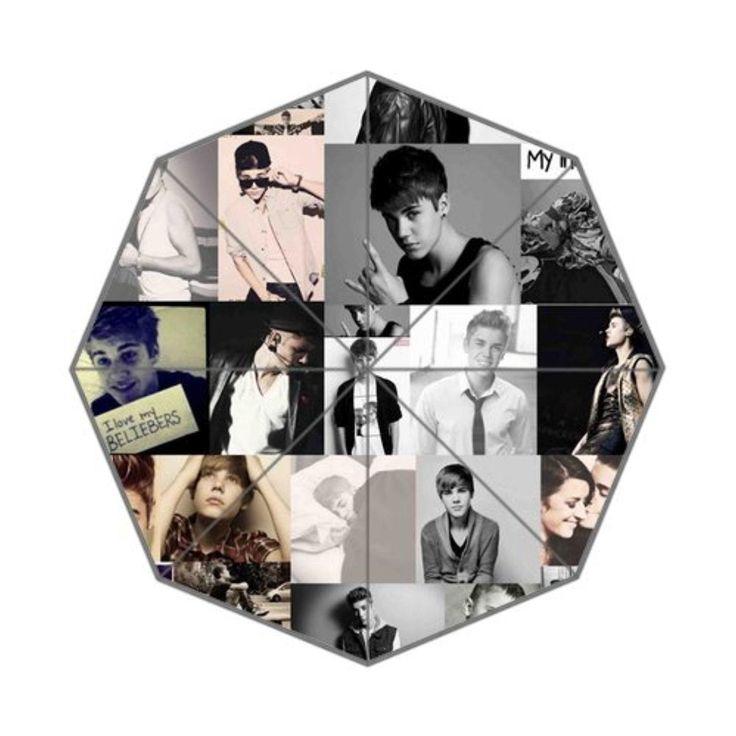 Justin Bieber Collage Sepia_Blancoynegro Custom Foldable Umbrella Men Women Kid's Umbrella Travel Umbrella Anti Uv - Brought to you by Avarsha.com