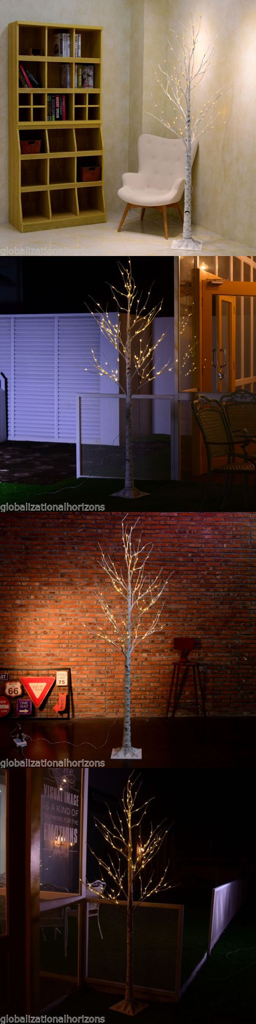Artificial Christmas Trees 117414: 7Ft 120 Pre-Lit Led Birch Twig Tree Light Wedding Cafe Bar Decor Lighting Trees -> BUY IT NOW ONLY: $59.99 on eBay!
