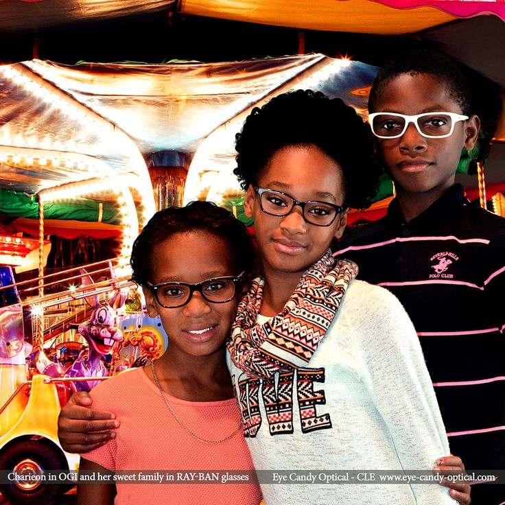 Charieon in her new designer glasses by OGI  is having too much fun at a Carnival with family in Ray-Bans. Eye Candy - the whole family destination for finest International Eyewear! Eye Candy Optical Cleveland - The Best Glasses Store! (440) 250-9191 - Book an Eye Exam Online or Over the Phone www.eye-candy-optical.com