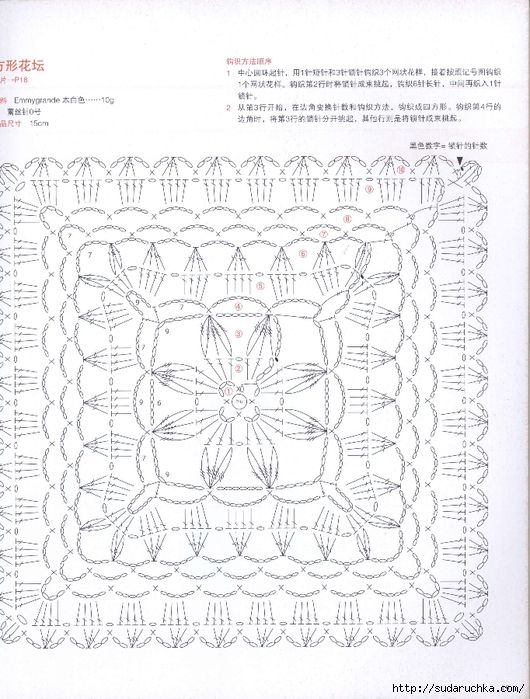 15cm square doilies with flower motif inside. More Great Patterns Like This