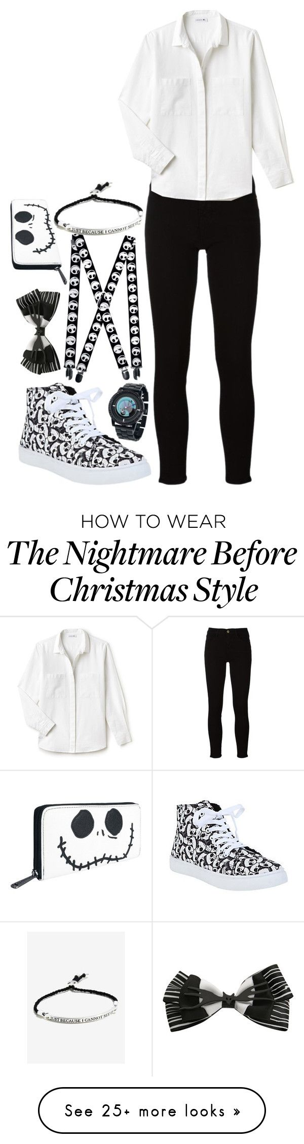 """""""The Nightmare Before Christmas #2"""" by twisted-magic on Polyvore featuring Frame, Disney and Lacoste"""
