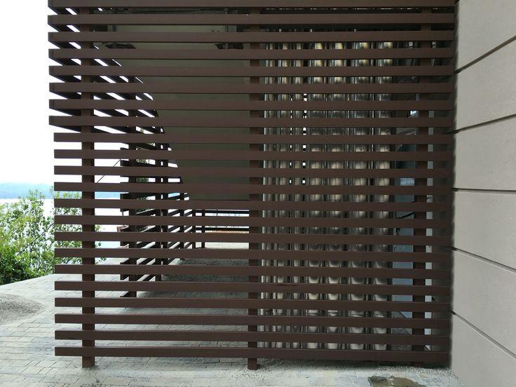 elementi frangisole in legno composito