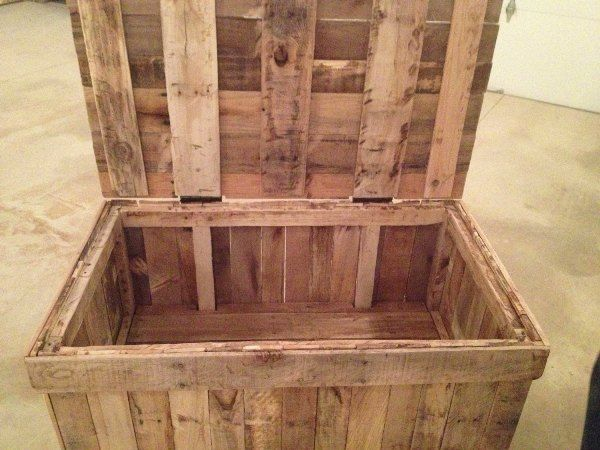 The hidden compartment pallet wood chest has been sealed with the polyurethane. The pallets that are being used to complete the project have been sanded properl | See more about Hidden Compartments, Wood Chest and Pallet Wood.