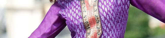 Purple Flare Dupion Silk Churidar Kameez Online Shopping: KYC1420