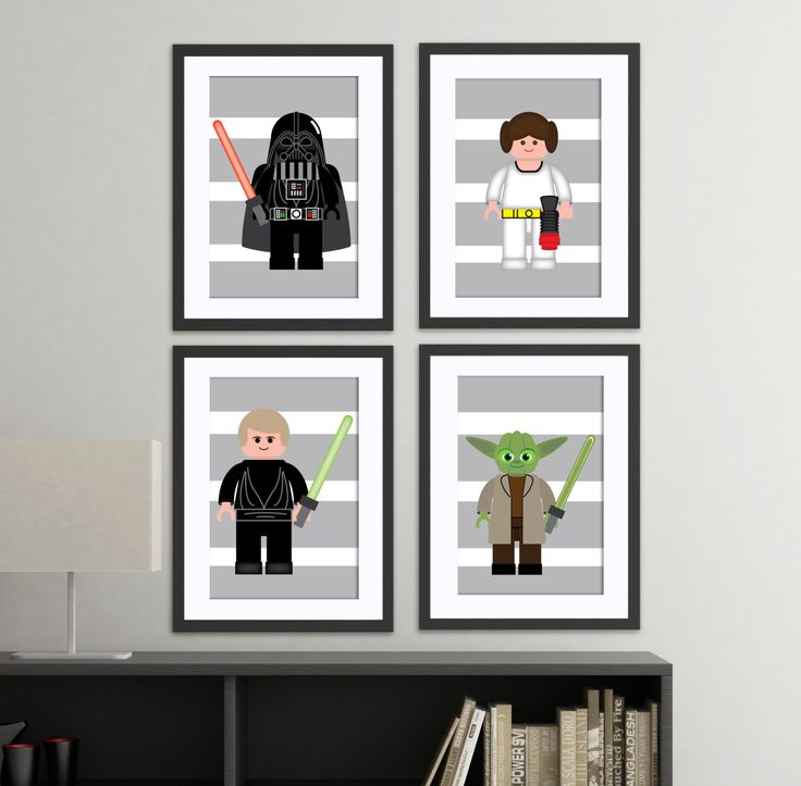 Star Wars Lego Inspired Wall Art Prints Set By AmysSimpleDesigns, $36.00 Part 73