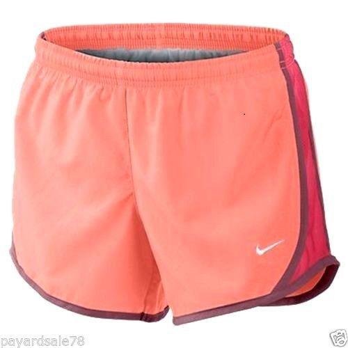 GIRL'S XL 16  NIKE DASH GYM RUNNING SHORTS INNER BRIEF PANTY TEMPO PEACHY  #Nike #GYMSHORTS