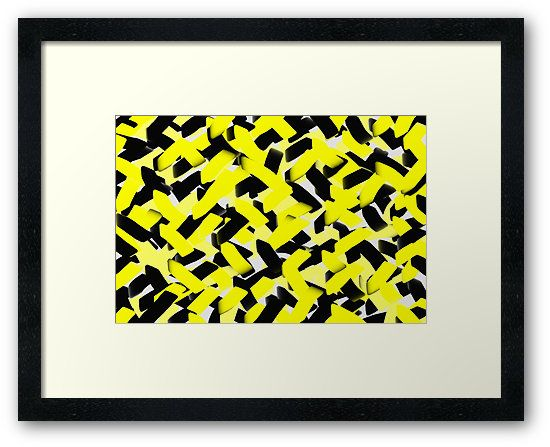 Complex transformation by Paucian Marius (mpabstractart); #art #abstract #yellow #black #strokes #prints #framed