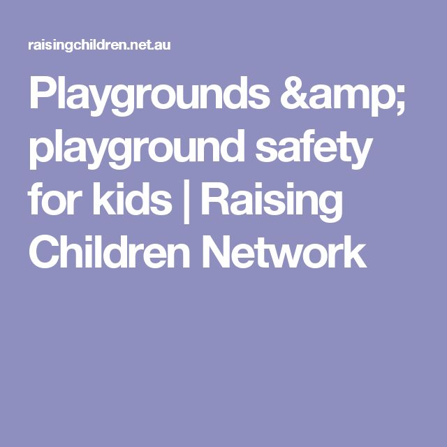 Playgrounds & playground safety for kids | Raising Children Network
