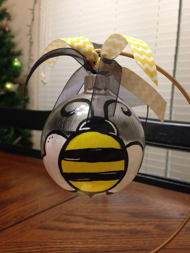 Glass Bumble Bee Ornament Christmas