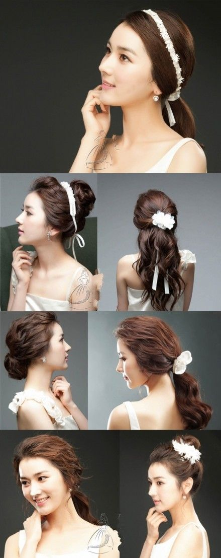 Seven different types of bridal styling, hair, peaceful and generous shawl, beautiful temperament bud head, which one do you like it ~ ~ ~