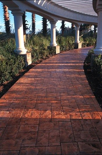 37 Best Images About Stamped Colored Concrete On Pinterest