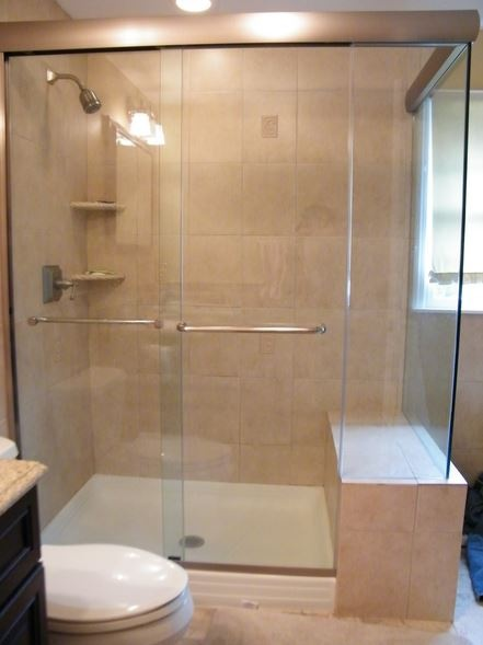 rona shower sliding door reversible clear en frameless halo l glass installation x