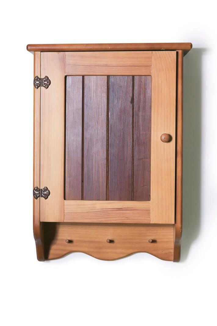 Bathroom Cabinet Wooden 3 Shelves Timber Front Fabian Woodworks