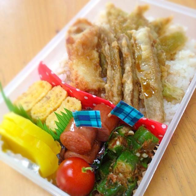 天丼お弁当。 - 56件のもぐもぐ - パパの夜勤お弁当 by sakyu☆