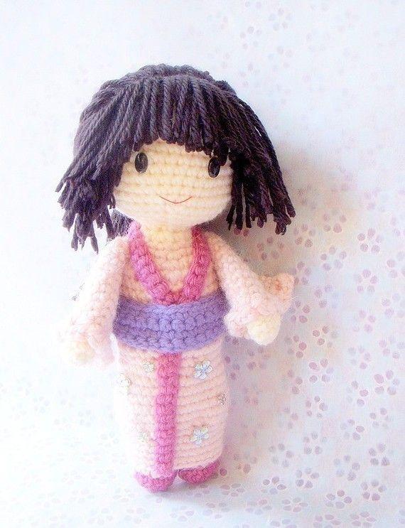 Amigurumi Japanese Doll : 173 best images about Amigurumi Kokeshi on Pinterest ...